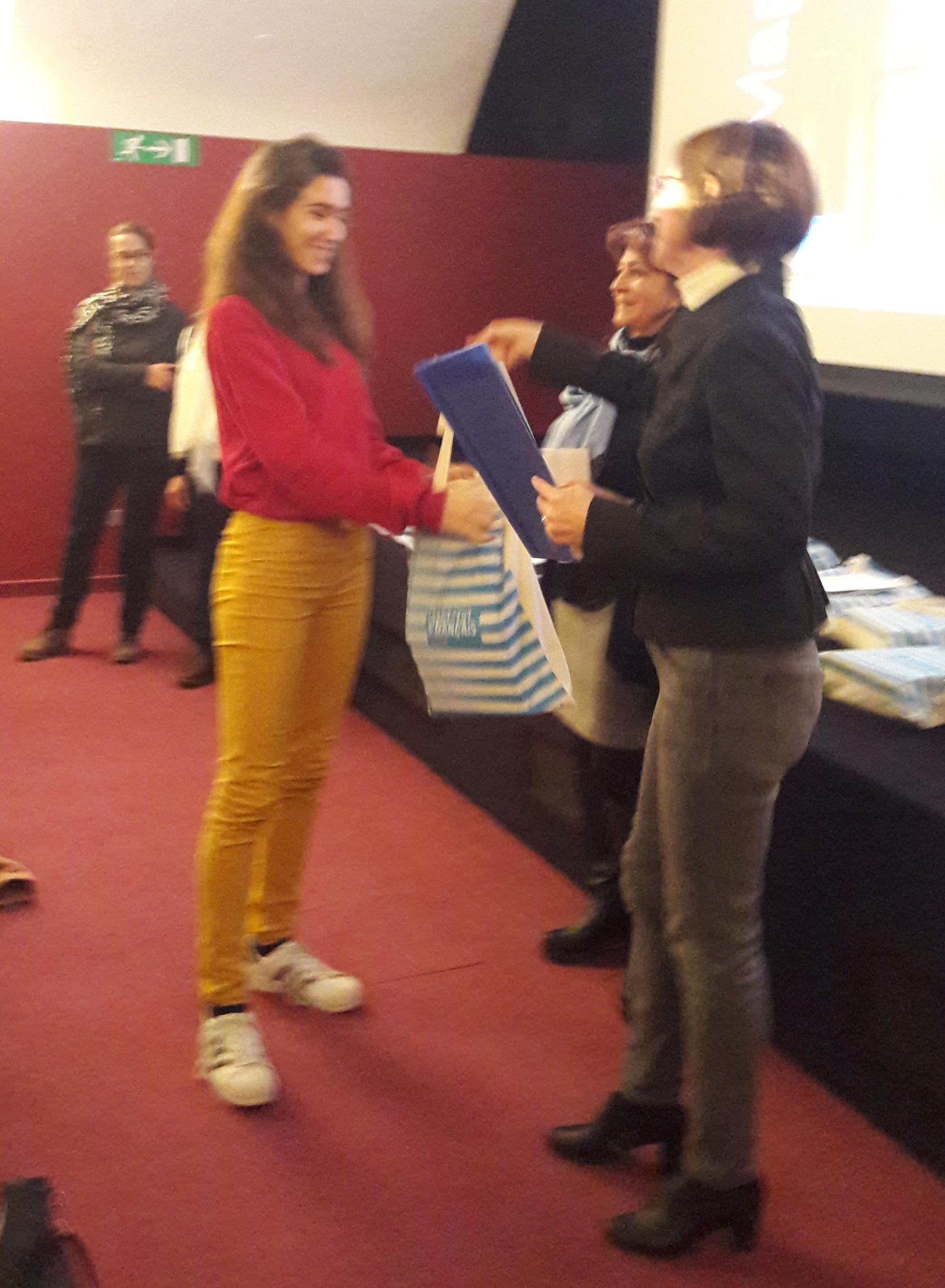 premiazione studentessa del Gentileschi